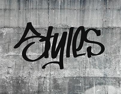 Styles Typography Exhibit