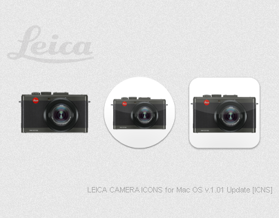LEICA CAMERA ICONS for Mac OS v1.01 Update [ICNS]