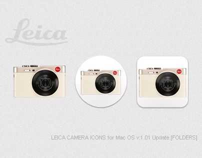 LEICA CAMERA ICONS for Mac OS v1.01 Update [FOLDERS]