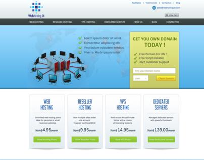 Webhosting 2k Homepage Design