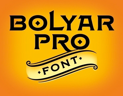 Bolyar Pro Font Family by the Fontmaker