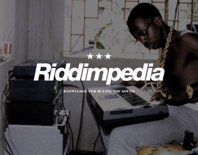 RIDDIMPEDIA   Brand Identity & UI/UX Concept Design