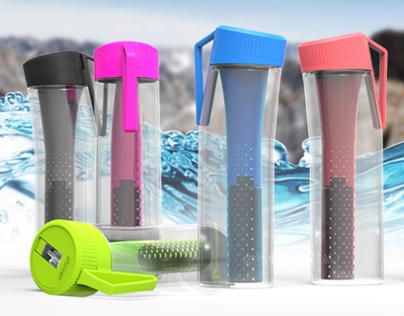 EVOEAU Filtered Water Bottle