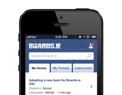 Boards touch redesigned - New Sign up process