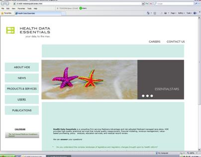 Health Data Essentials, Inc. Website Application