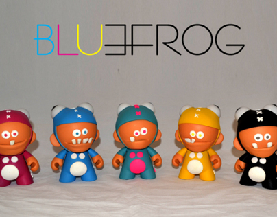Blue- Frog World CMYK Series