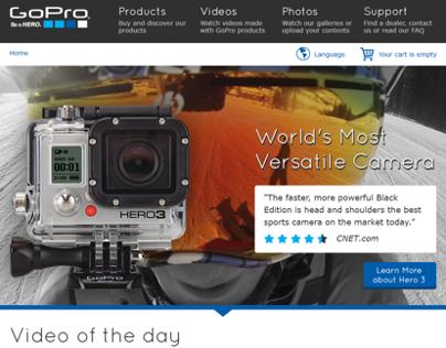 GoPro website redesign concept