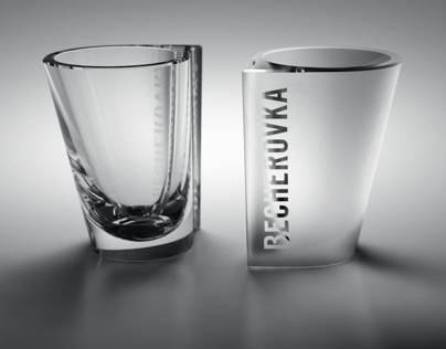 Liquor glass for two