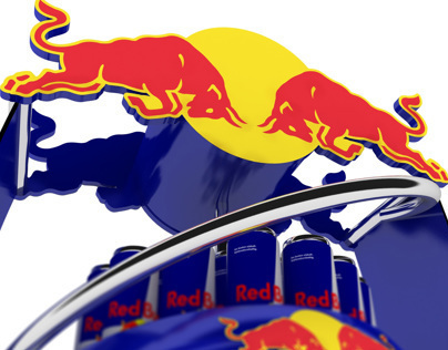 Red Bull, helix concept floor stand