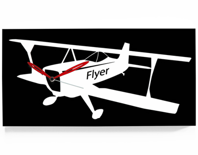 Flyer the wall clock for Progetti