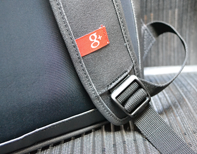 Google + backpack - promotional bags