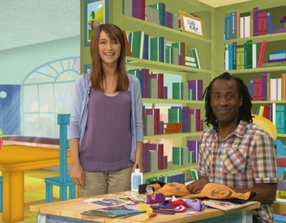 Cbeebies 'Let's Play' Props and Background illustration
