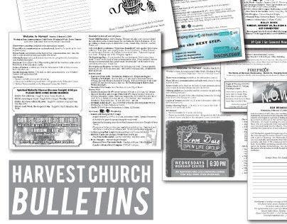 Harvest Church Bulletins