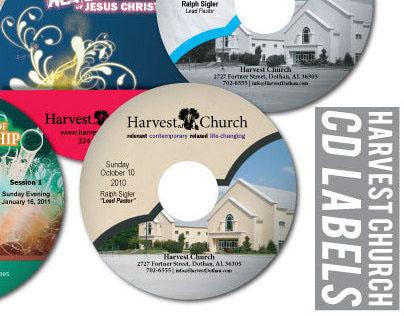 Harvest Church CD Labels