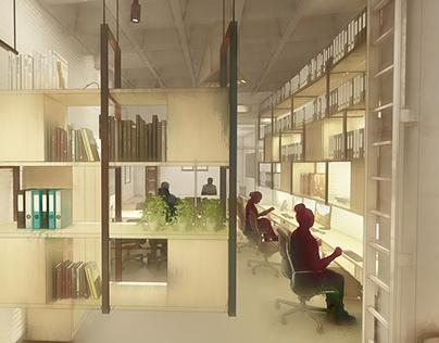 Interior & furniture design for office in Jerez