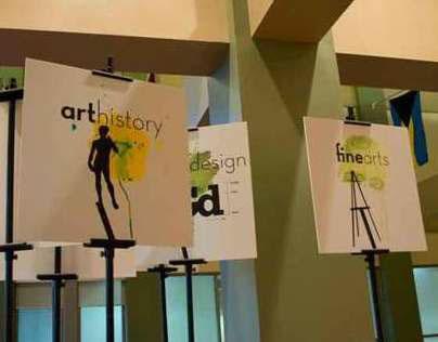 Edinboro Open House Art Department Signs