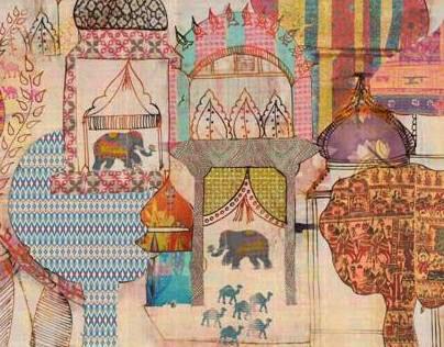 Indian Summer - Mixed media illustrations