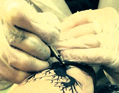 Tattoo Design - Woman & Tree