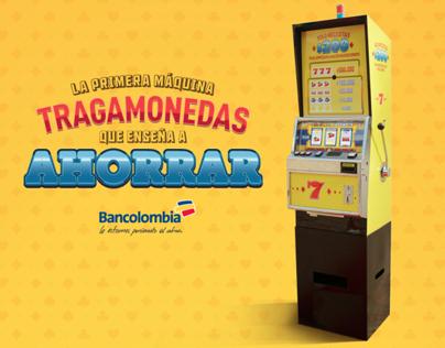 MÁQUINA TRAGAMONEDAS BANCOLOMBIA