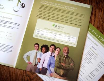 Limited Benefit Insurance Pocket Folder Brochure