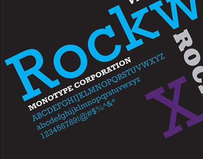 Rockwell Typeface Poster