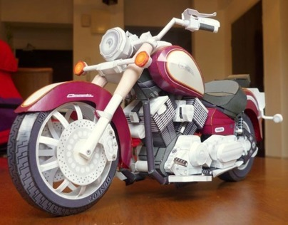 Paper Model of 'Yamaha DragStar Classic 11'