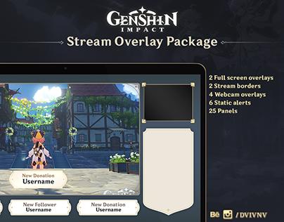 Stream Overlay Package (Genshin Impact theme)