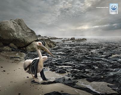 Rio Art - Oil Spill PELICAN