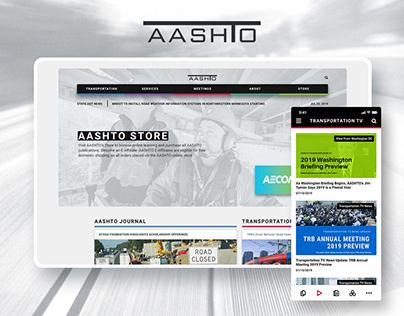 AASHTO Transportation - Web UX/UI