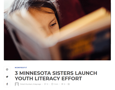 3 MINNESOTA SISTERS LAUNCH YOUTH LITERACY EFFORT