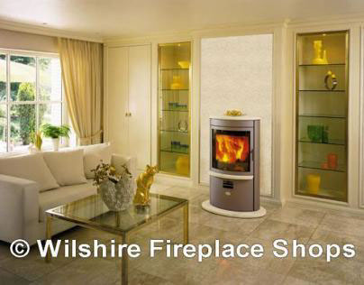 Contemporary Wood Burning Free-Standing Stove