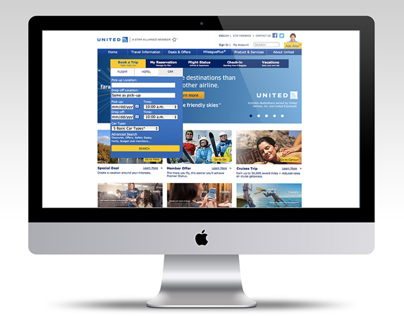 United Airlines Website Re-design