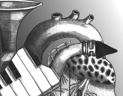 Pencil Illustration // Jazz Heart