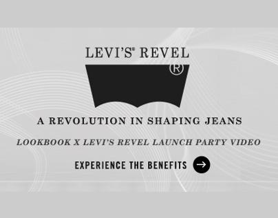LOOKBOOK x Levi's Revel Launch Party Video Promo Banner