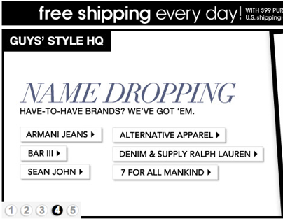 Web Assets: Macy's Millenial Men's Category Banners