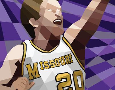 Missouri Basketball Illustrations