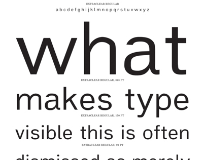 Extraclear: A Typeface for Optimal Legibility