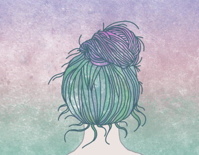 the hairstyle illustration project