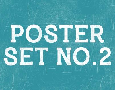 Typography Poster Set No.2 by Matt Edson