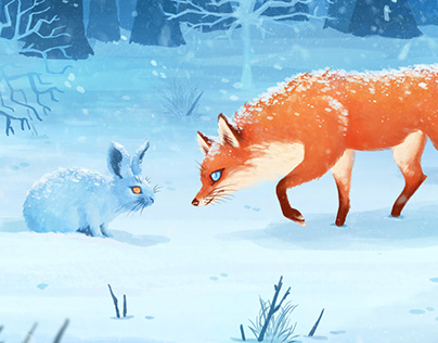 a FOX and a HARE