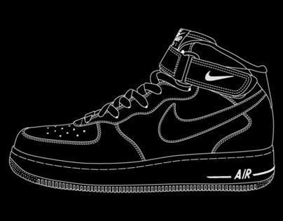 Nike x ilovedust AF1