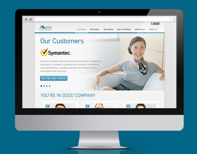 Marin Software Customer & Case Study Landing Pages