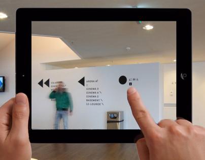 Augmented Reality mobile app EYEWalk