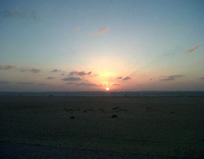 Sunset at my city bir el abd sinai egypt