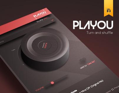 Playou Shuffle Music App