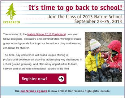 HTML Emails - 2013 Nature School Conference