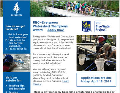 HTML Emails - RBC Watershed Champions Award