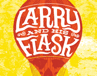 Larry and His Flask screen printed gigposter