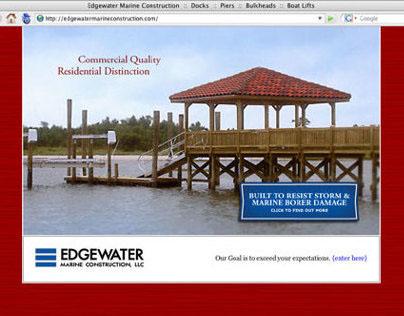 Edgewater Marine Constrcution Web Site