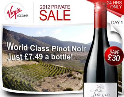 Virgin Wines - Email Marketing Samples 2012